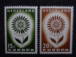 PAYS BAS 1964 Y&T N° 801 & 802 ** - EUROPA - Unused Stamps