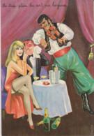 CARRIERE LOUIS Illustrateur-LE TROP PLEIN LUI SORT PAR LES YEUX - Couple (Pin-Up) Buvant Du Champagne-Violoniste Tzigane - Carrière, Louis