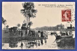CPA 62 ECOURT SAINT QUENTIN - Au Marais - Navigation Militaire Par Le 3e Génie, D'Arras - Andere Gemeenten