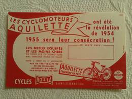 Buvard PUB CYCLOMOTEUR AQUILETTE Révélation 1954 CYCLES AQUILA SAINT ETIENNE 42 MOTUL ILLUSTRATEUR - Bikes & Mopeds