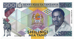 TANZANIE  1989  500 Shilingi  -  P.21a  Neuf UNC - Tanzania