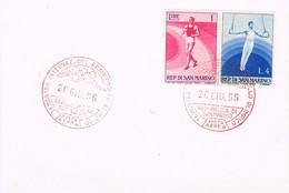 39388. Tarjeta SAN MARINO 1955. Mostra Francobollo Olimpico. Deportes - Briefe U. Dokumente
