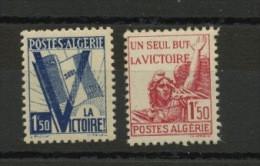 ALGÉRIE RF: POUR LA VICTOIRE - N° Yvert 198+199** - Unused Stamps