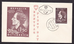 Austria: FDC First Day Cover, 1960, 1 Stamp, Gustav Mahler, Componer, Music, Art (minor Crease At Back) - 1945-60 Lettres