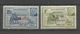 Timbre Colonie Française Mauritanie Neuf * N 131 / 132 - Neufs