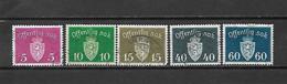 NORVEGIA - 1937 - N. 22-24-25-30-31 USATI (CATALOGO UNIFICATO) - Officials