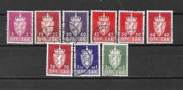 NORVEGIA - 1955/76 - N. 67-74-75-77-79-81-83-87-88 USATI - (CATALOGO UNIFICATO) - Officials
