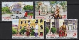 Thailand (2018) - Set -  /  Postal Services - Motorbike - Bike - Velo - Bicicleta - Voitures - Correo Postal