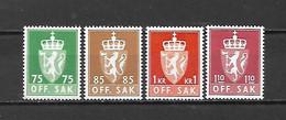 NORVEGIA - 1973/74 - N. 90/93** (CATALOGO UNIFICATO) - Officials