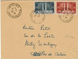 CTDN67- FRANCE FDC VIMY SUR LETTRE VOYAGEE 26/7/1936 - ....-1949