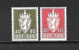 NORVEGIA - 1978/79 - N. 102/03** (CATALOGO UNIFICATO) - Officials