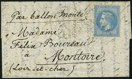 Lettre L'ARMAND BARBES, Càd Paris R D'Enghien 30 Sept 70 Pour Montoire (L Et Ch), T.B. - Non Classificati
