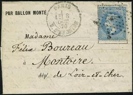 Lettre LE WASHINGTON (probable) Càd Paris R D'Enghien 8 Oct 70 Pour Montoire (L Et Ch), Avec Arrivée, T.B. - Non Classificati