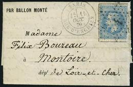 Lettre LE LOUIS BLANC(probable) Càd Paris R D'Enghien 11 Oct 70, Pour Montoire (L Et Ch), Arrivée 15 Oct 70, T.B. - Non Classificati