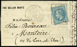 Lettre LE GARIBALDI,  Càd Paris R D'Enghien 19 Oct 70, Pour Montoire (L Et Ch), Avec Arrivée, T.B. - Non Classificati