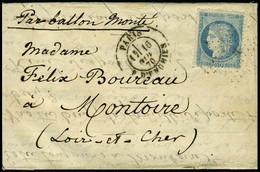 Lettre LE GENERAL ULRICH, Càd Paris R D'Enghien 16 Nov 70, Pour Montoire (L Et Ch) Arrivée Le 25 Nov 70, T.B. - Non Classificati