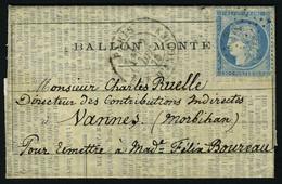 Lettre Le Franklin, Lettre-journal Le Soir, édition Du 30 Novembre 1870, Lettre Datée Du 1er Décembre, Texte Imprimé Sur - Non Classificati