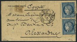 Lettre LA POSTE DE PARIS, Gazette Des Absents N° 28 Affranchi à 40c (2x20), Oblitération étoile 1 Place De La Bourse + C - Non Classificati