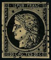 Oblitéré N° 3, 20c Noir Obl Etoile, T.B. - Non Classificati