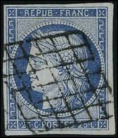 Oblitéré N° 3 + 4, 20c Noir Et 25c Bleu, 2ex De Chaque, Nuances Différentes, Tous T.B. - Non Classificati