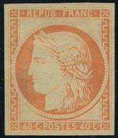 Neuf Avec Charnière N° 5g, 40c Orange, Réimpression, T.B. - Non Classificati