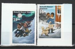 GROENLAND 2020 YT N° 839 Et 840 (MI N° 871 Et 872) ** AUTO-ADHESIF Provenant Du Carnet NOEL - CHRISTMAS - Nuevos
