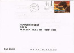 39398. Carta NEWBERG (Oregon) 1991. READER'S DIGEST. Stamp Tyranosaurus Rex - Cartas