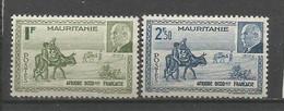 Timbre Colonie Française Mauritanie Neuf * N 123 / 124 - Neufs