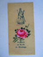 Image Pieuse Santini Devotieprentje Marie Maria Souvenir De N.-D. De Montaigu Celluloid Form. 4 X 7 Cm - Devotion Images