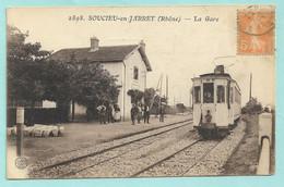 2898. SOUCIEU En JARRET (Rhône) -- La Gare -- GARE --TRAIN -- TRAMWAY - Otros Municipios