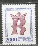 POLAND MNH ** 3138 ARMOIRIES DE CRACOVIE Armoirie Couronne - Unused Stamps