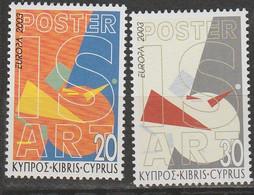 Chypre Europa 2003 N° 1021/ 1022 ** Art De L'affiche - 2003