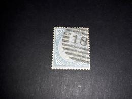 """A8MIX16 REGNO D'ITALIA 1877 TIPI DE LA RUE CAMBIAMENTI DI COLORE 10 C. AZZURRO """"XO"""" - Used"""