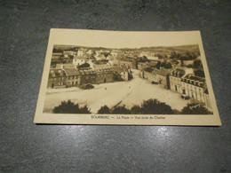 BOURBRIAC LA PLACE VUE PRISE DU CLOCHER EN 1949 - Other Municipalities