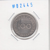 Saarland 100 Francs 1955 Km#4 - Sarre