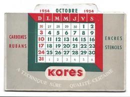 CALENDRIER SYSTEME - PUBLICITE KORES - COMPLET - Petit Format : 1941-60