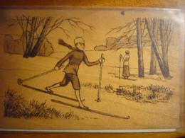 Carte En Bois     1918 - Wintersport