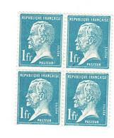 179 1,00 F. Pasteur Bleu Bloc De 4 Luxe - Nuovi