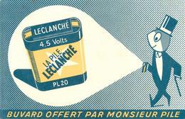 PILE LECLANCHE - BUVARD ABCIEN ILLUSTRE (13 X 21 Cm). - Accumulators