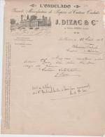 DORDOGNE: J. DIZAC & Cie, Manufacture De Papiers & Cartons Ondulés à La Rivière Près Ribérac / Fact De 1912 Pour Ribérac - Printing & Stationeries