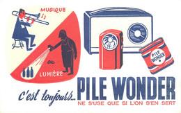 PILE WONDER - BUVARD ANCIEN ILLUSTRE (13 X 21 Cm). - Accumulators