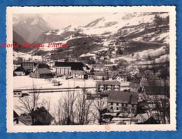 Photo Ancienne Snapshot - VALLOIRE ( Savoie ) - Vue Générale - Février 1960 - Alpes Montagne - Places