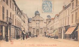 78-VERSAILLES EGLISE NOTRE DAME ET RUE HOCHE-N°T2900-D/0375 - Versailles (Château)