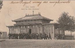 JA 3 - (75) PARIS - GARE DU PONT MIRABEAU - MILITAIRES - 2 SCANS - Stations, Underground