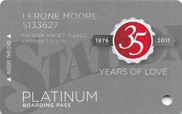 Station Casinos Las Vegas, NV - Slot Card Copyright 2011 - Platinum / Large Space Under Logos - Casino Cards