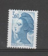 FRANCE / 1987 / Y&T N° 2485a  ** : Liberté 3F60 Bleu (papier Couché) X 1 - Nuovi