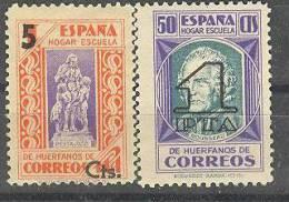 ESBE27-L4224TB.BENEFICENCIA.PEDAGOGOS HABILITADO.1938   (Ed 27/8** ) GOMA ORIGINAL..MAGNIFICA - Beneficiencia (Sellos De)
