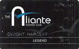Aliante Casino Las Vegas - Legend Players Club / Slot Card With 1-877-477-7627 Phone# - Casino Cards
