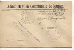 REF3465/ Lettre Administration Communale De Namur Càp Namur 30/9/16 Censure Namur > Anvers - Altre Lettere
