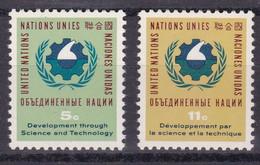 United Nations New York YT** 110-111 - Nuevos